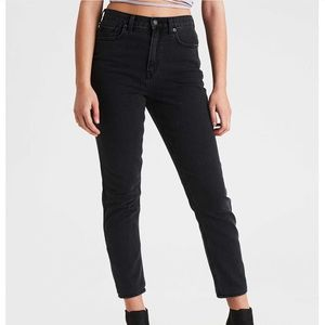 American Eagle High Waisted Mom Jeans Faded Black